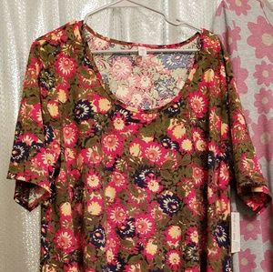 New NWT LULAROE Pretty Fall Colors Perfect T 3X
